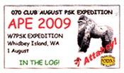 2009 APE W7PSK.
