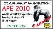 2010 APE W6QE & W0PE.