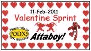 2011 Valentine Sprint
