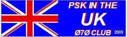 Work England, Northern Ireland, Scotland and Wales on PSK31 to qualify for the UK endorsement.