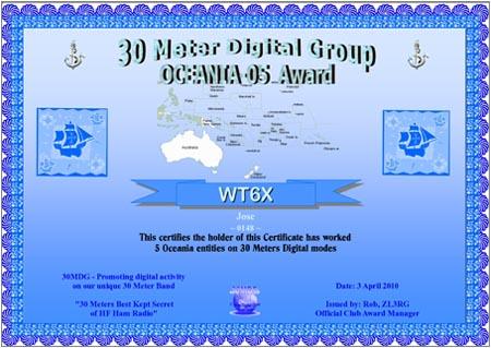 WT6X 30MDG OC 05 Certificate