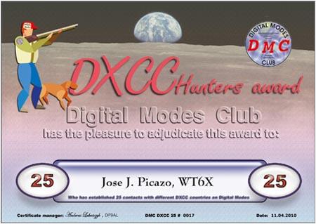 DXCC-025 WT6X
