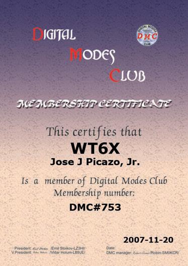 DMC Cert 753 WT6X