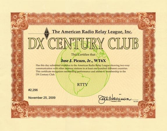 ARRL DXCC RTTY WT6X