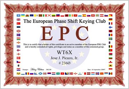 EPC WT6X Cert.