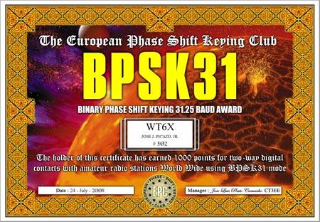 WT6X BQPA BPSK31
