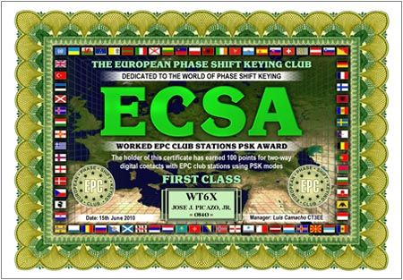 WT6X ECSA FIRST