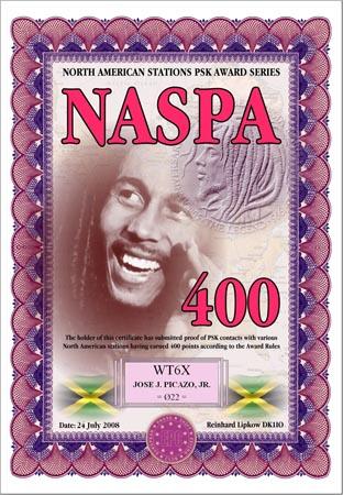 WT6X NASPA 400