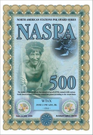 WT6X NASPA 500