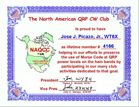 North American QRP CW Club is dedicated to QRP/QRP operation, using CW.